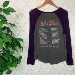 Daydreamer Tops - Daydreamer Poison Flesh & Blood Tour Raglan Tee